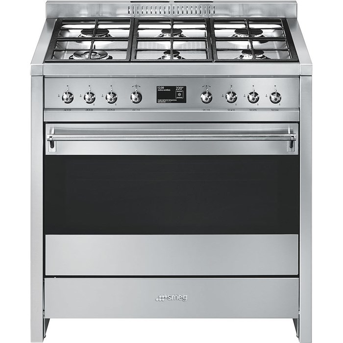 A1-9 90cm Opera Dual Fuel Range Cooker Stainless Steel