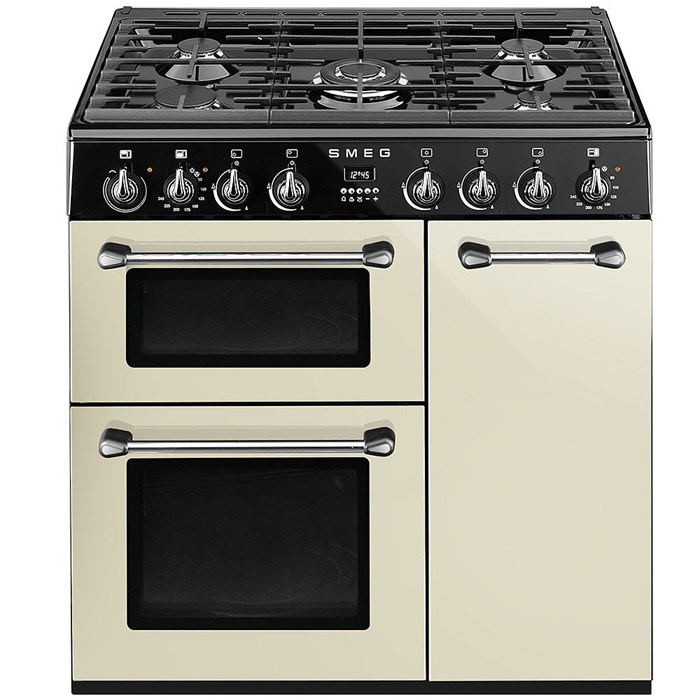 BU93P 90cm Burghley Dual Fuel Range Cooker Cream