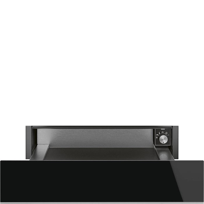 CPR615NX 15cm Height Dolce Stil Novo Warming Drawer Black Glass with Steel Trim