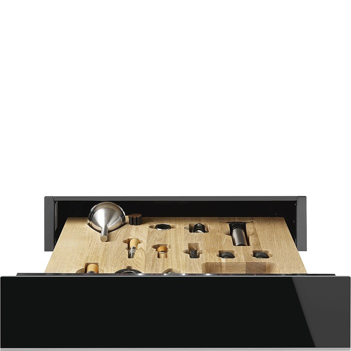 CPS615NX 15cm Height Dolce Stil Novo Sommelier Drawer Black and Steel Trim