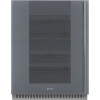 CVI138LS3 60cm Linea U/C Wine Cooler with LH Hinge Silver Glass