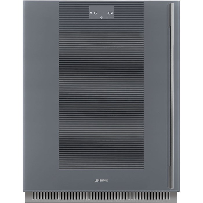 CVI138LWS2 60cm Linea U/C Wine Cooler with LH Hinge Silver Glass