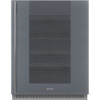 CVI138RS3 60cm Linea U/C Wine Cooler with LH Hinge Silver Glass