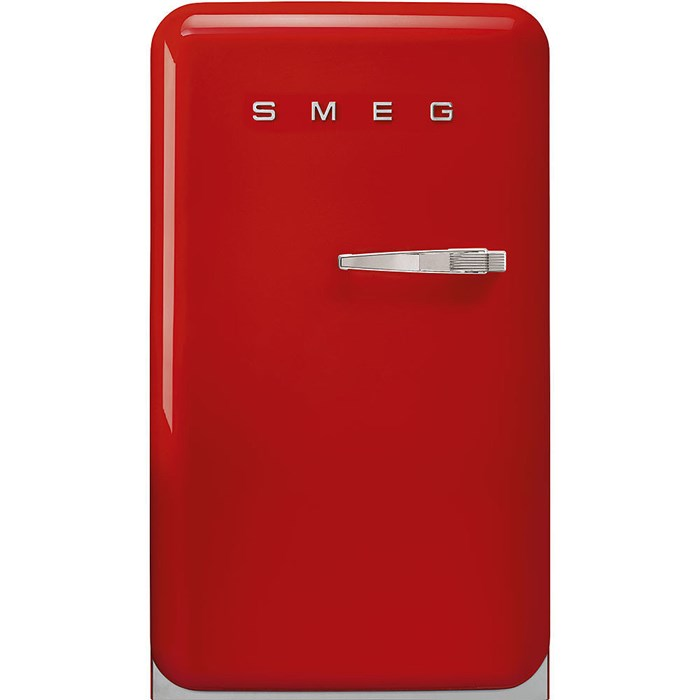 FAB10LRD5 55cm Fridge with Icebox Left Hand Hinge Red