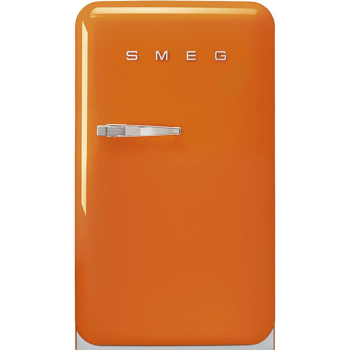 FAB10ROR5 55cm Fridge with Icebox Right Hand Hinge Orange