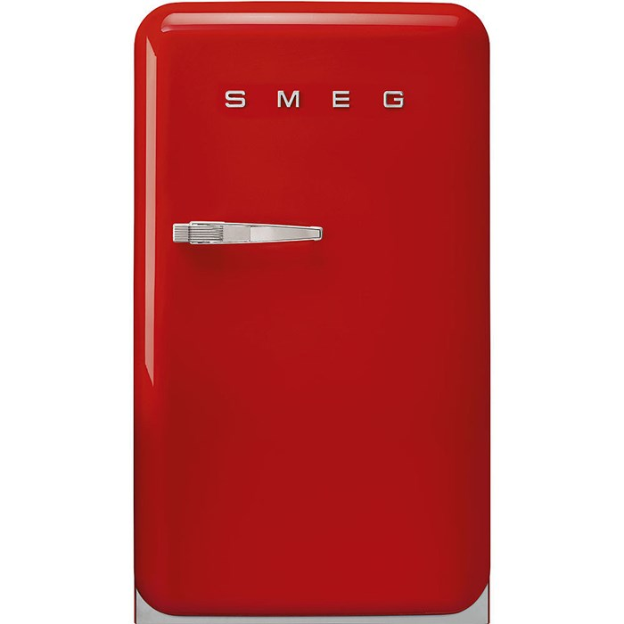 FAB10RRD5 55cm Fridge with Icebox, Right Hand Hinge, Red