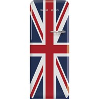 FAB28LDUJ5 60cm 50s Style Left Hand Hinge Fridge with Icebox Union Jack