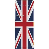 FAB28RDUJ5 60cm 50s Style Right Hand Hinge Fridge with Icebox Union Jack