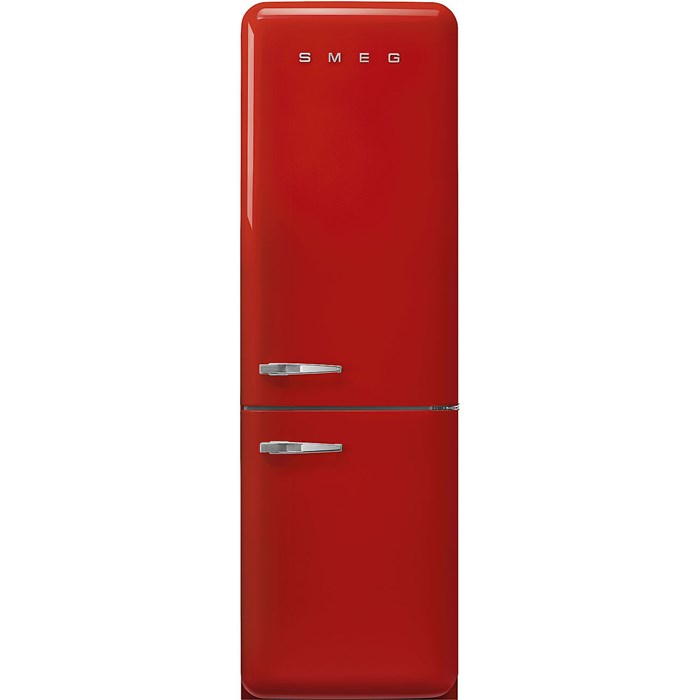 FAB32RRD5UK 60cm 50s Style Right Hand Hinge Fridge Freezer Red