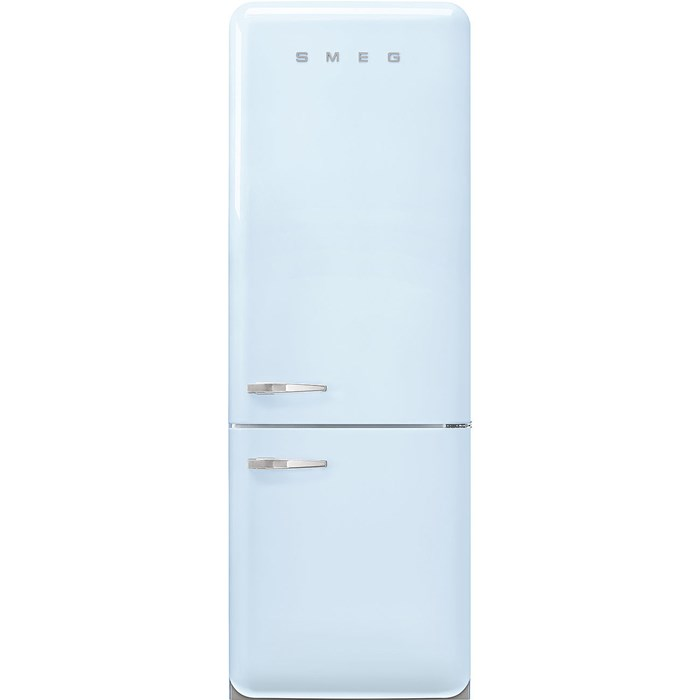 FAB38RPB 70cm 50s Style Right Hand Hinge Fridge Freezer Pastel Blue