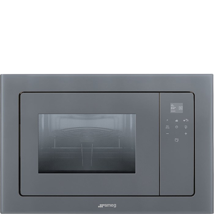 FMI120S2 Linea 20 Litre Built in Microwave with Grill in Silver Glass
