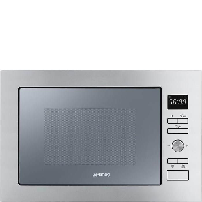 FMI425S Cucina 25 Litre Built In Microwave with Grill in Silver Glass