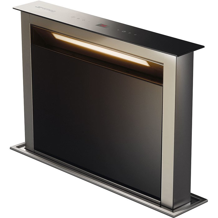 KDD60VXE-2 60cm Island Downdraft Hood Stainless Steel and Black Glass