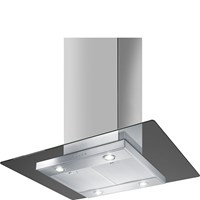 KEIV90E 90cm Island Hood Stainless Steel and Glass