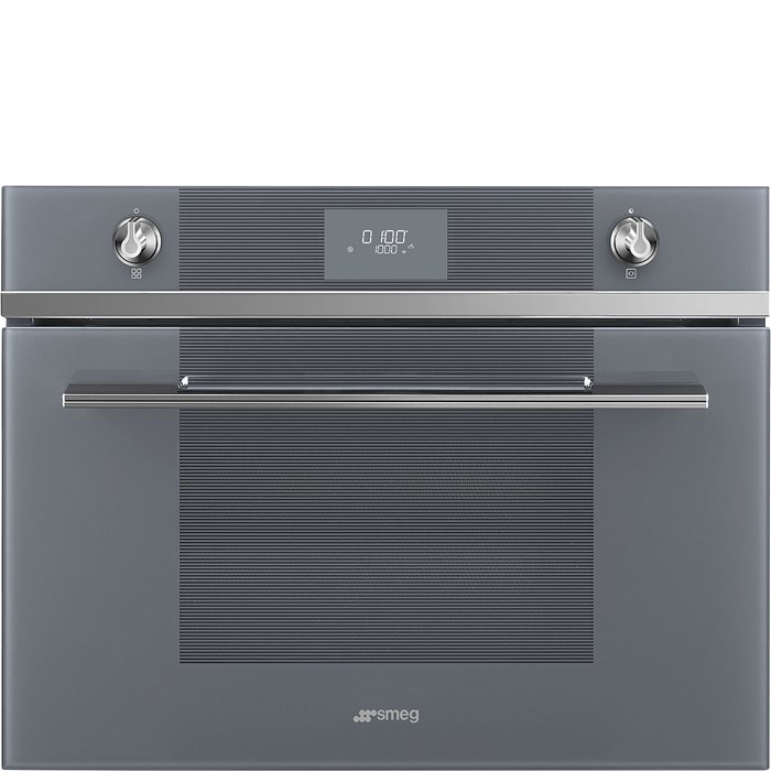 SF4101MCS1 Compact 45cm Linea Combi Microwave in Silver Glass