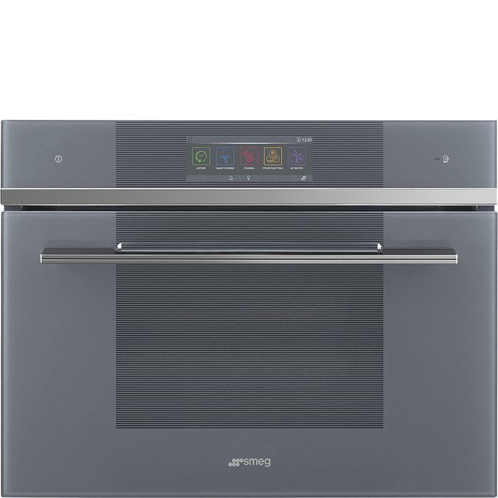 SF4106WMCS 45cm Linea Combi Micro with Vivo Touchscreen & Wi-Fi in Silver Glass