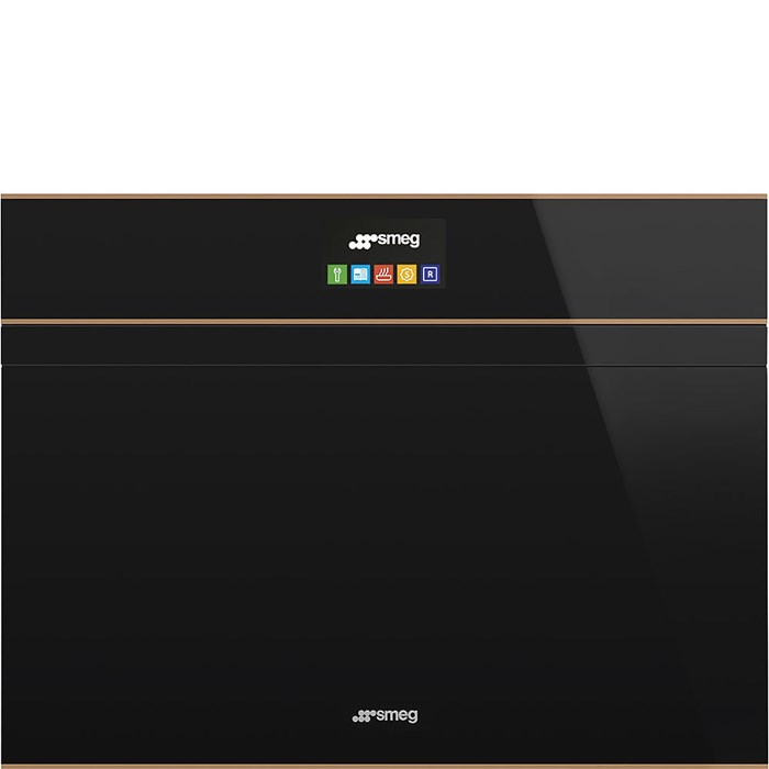 SF4604PMCNR Compact 45cm Dolce Stil Novo Combi Microwave Oven with Copper Trim with Touch and Release Handle