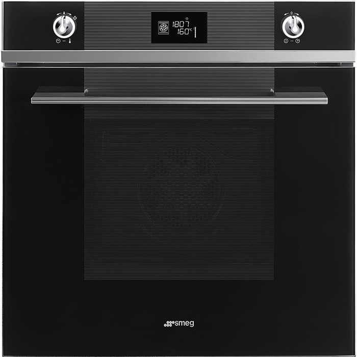 SFP6102TVN 60cm Linea Pyrolytic Multifunction Single Oven in Black Glass