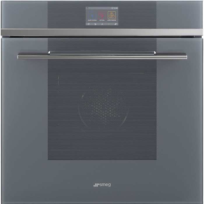 SFP6104SPS 60cm Linea Steam Assist Pyrolytic Multifunction Oven in Silver Glass