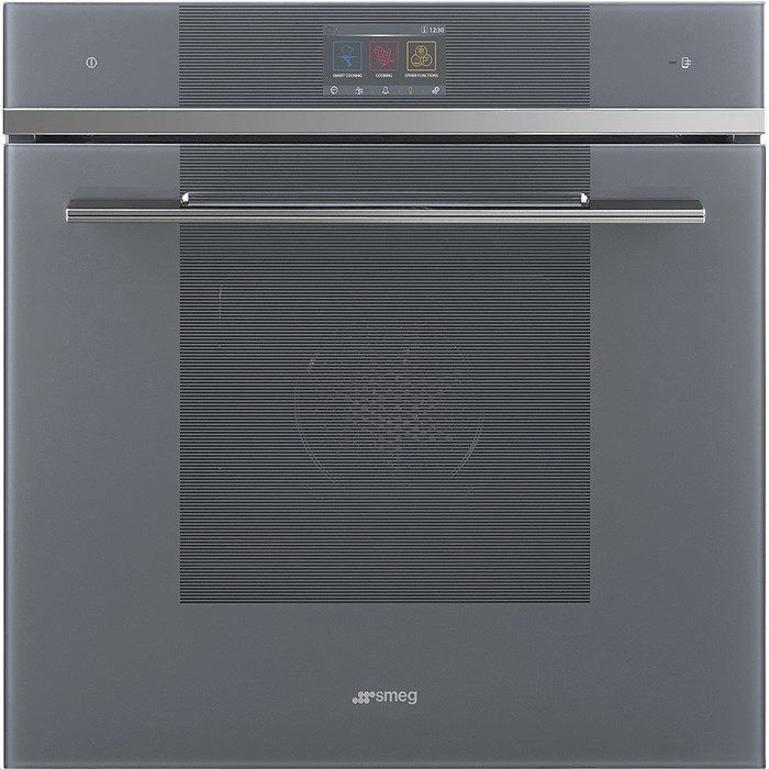 SFP6104WTPS 60cm Linea Pyrolytic Multifunction Single Oven in Silver Glass