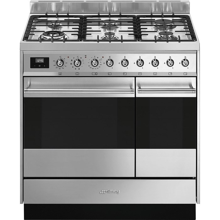 SY92PX9 90cm Symphony Dual Fuel Range Cooker Stainless Steel