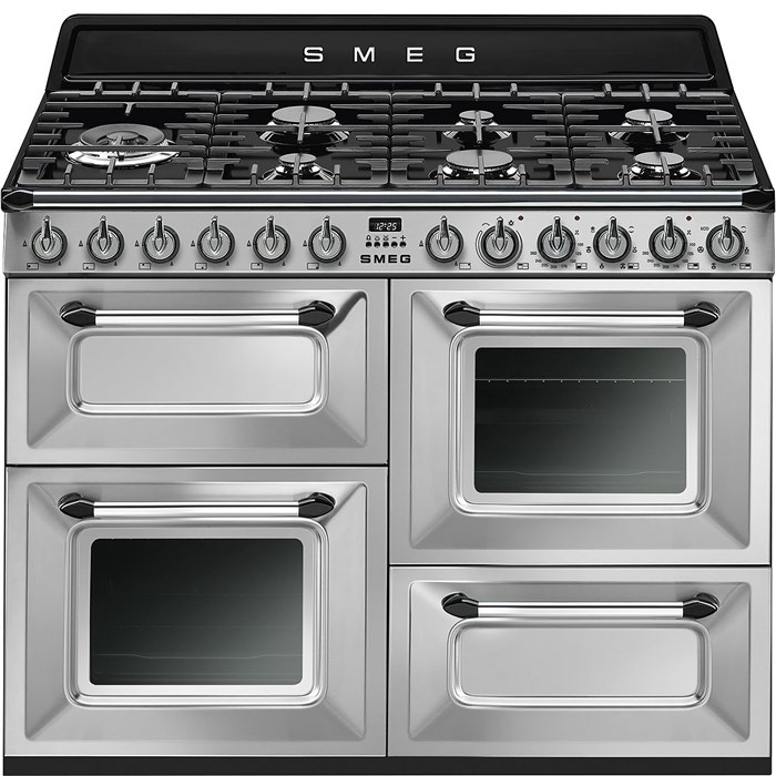TR4110X-1 110cm Victoria Dual Fuel Range Cooker Stainless Steel Wine