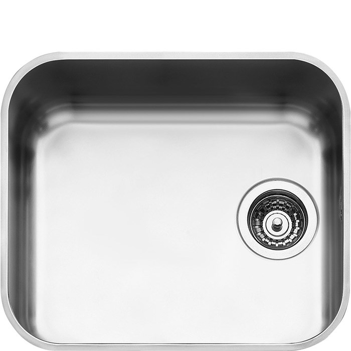 UM45 45cm Alba Single Bowl Undermounted Sink Stainless Steel