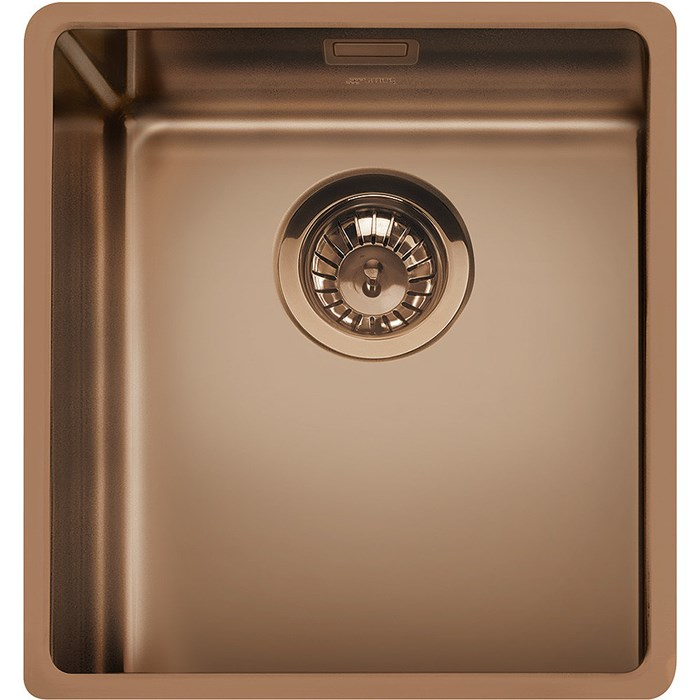 VSTR34CUX 34cm Mira Single Bowl Undermounted Sink Copper PVD